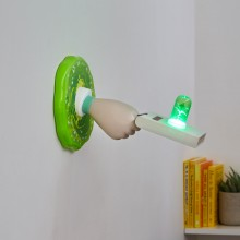 Rick And Morty Portal Gun Lampa