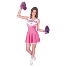Cheerleader Rosa Maskeraddräkt