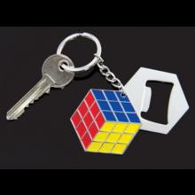 Rubiks kub: Flasköppare och nyckelkedja