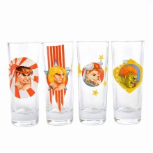Street Fighter Shotglas 4-pack
