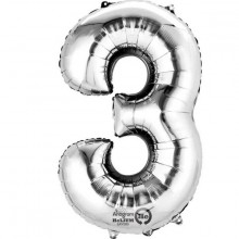 Sifferballong Silver 3