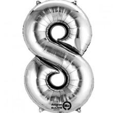 Sifferballong Silver 8
