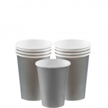Pappersmugg Silver 8-pack
