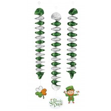 Spiral Dekoration St Patricks Day 3-pack
