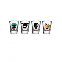 Suicide Squad Shotglas 4st