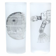Star Wars Glas 2-pack Death Star & AT-AT