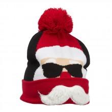 Stickad Mössa Cool Santa