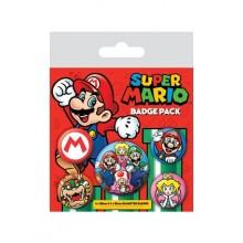 Super Mario Knappar 5 st