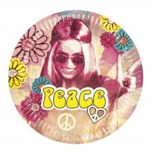 Tallrikar Hippie 60-tal 6-pack
