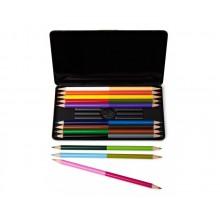 Tvåfärgade Färgpennor 12-pack