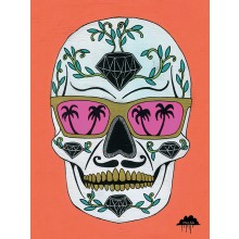 Schubert the Sugar Skull Canvas 60 x 80 cm