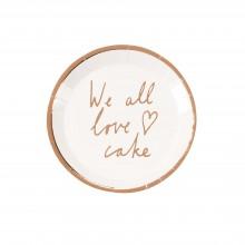 Tallrikar We All Love Cake 12-pack