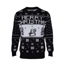 Jultröja Nintendo Super Mario Christmas Svart