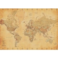 WORLD MAP (VINTAGE STYLE) POSTER