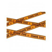 Varningstejp Zombie Zone Orange Svart