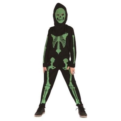 Barndräkt Skelett Grön