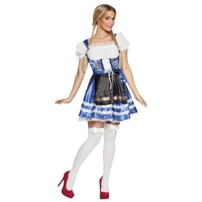 Tyrolerklänning Helena Blå Oktoberfest
