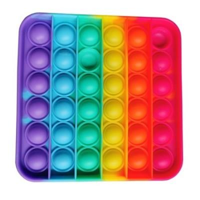 Pop It Fidget Toy Cube Regnbågsfärgad