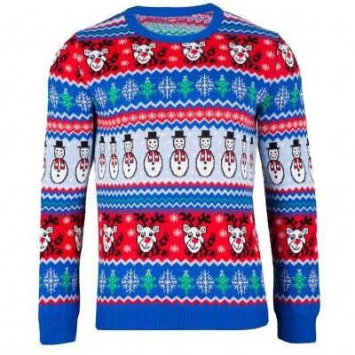 Jultröja Comic Xmas Blå