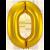 Jumbo Sifferballong  86 cm Guld 0