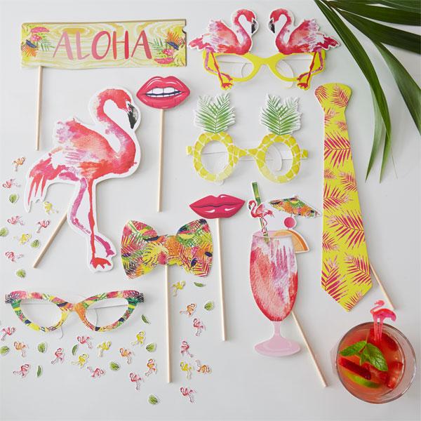 Rekvisita Flamingo 10-pack
