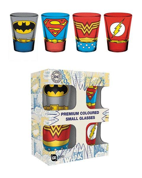 DC Comics Premium Shotglas 4-pack