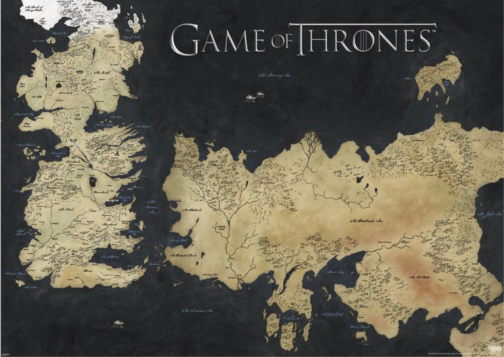 GAME OF THRONES (MAP OF WESTEROS & ESSOS) STOR POSTER thumbnail