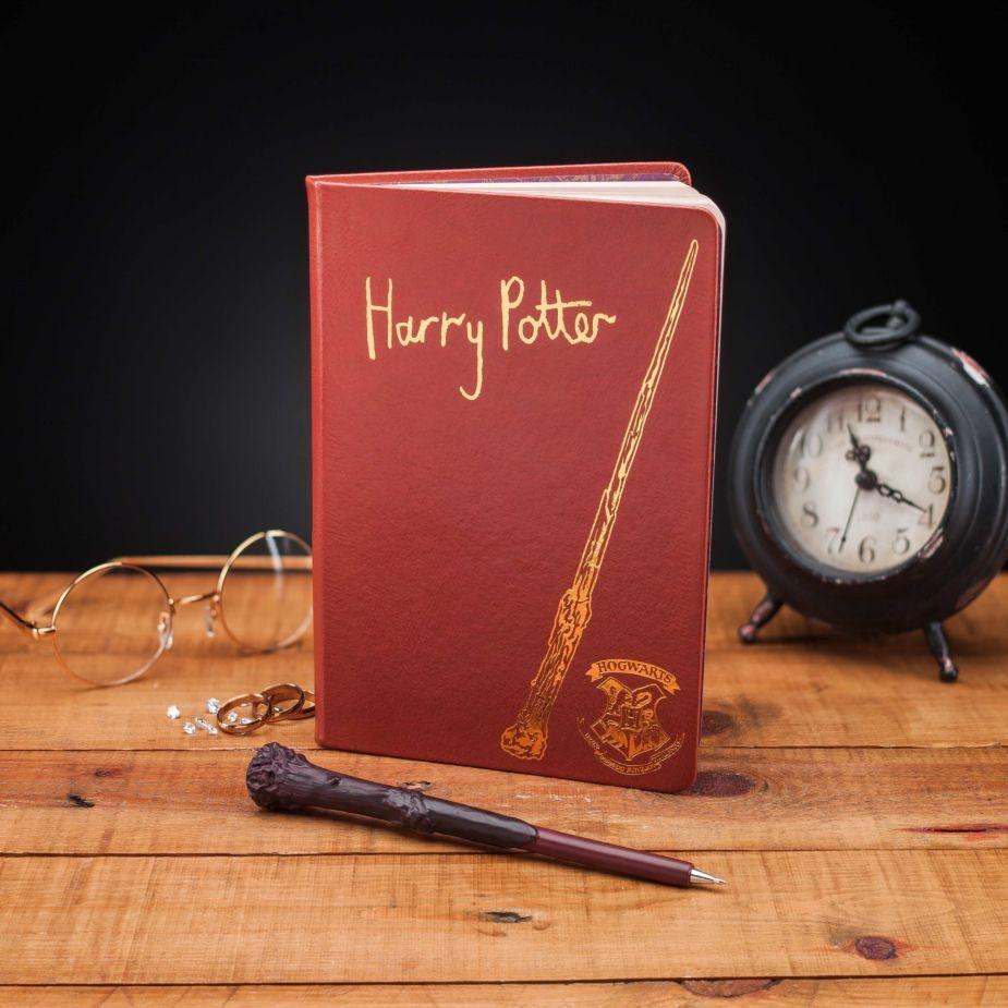 Harry Potter Anteckningsbok Med Trollstavspenna