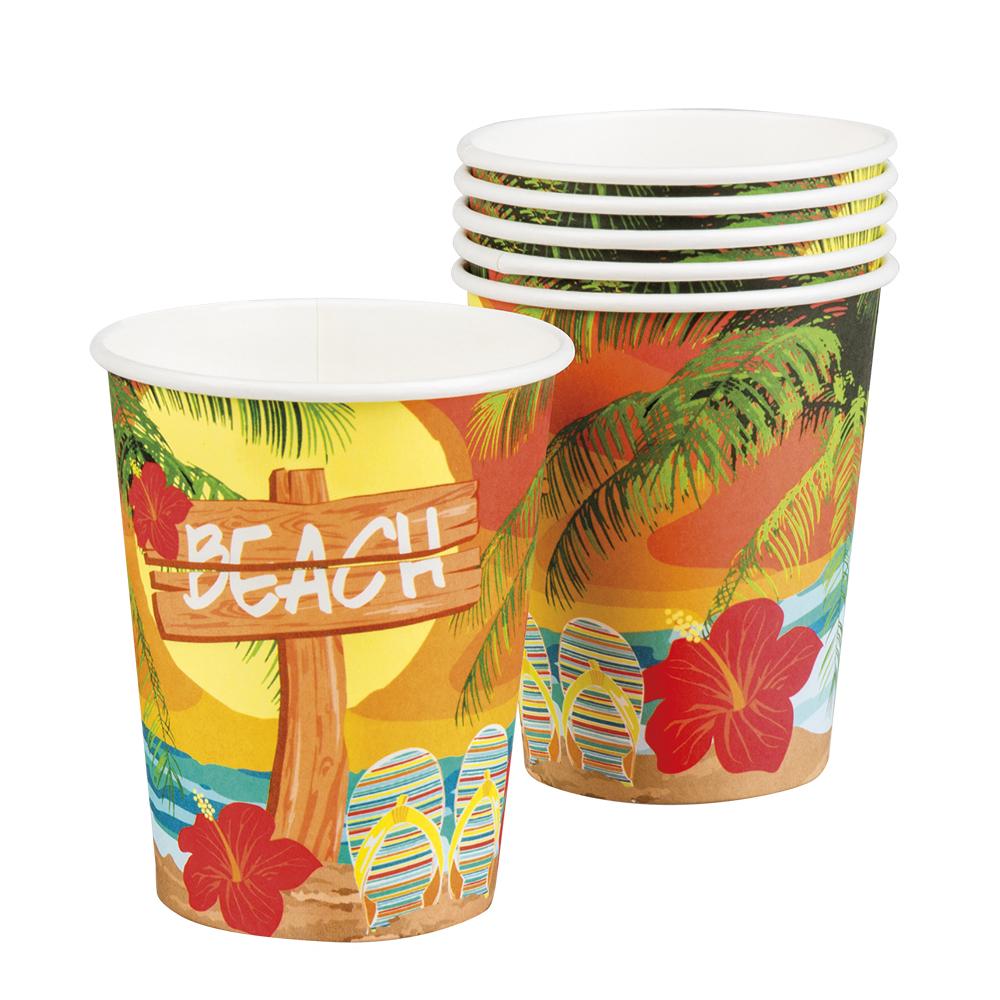 Pappersmugg Hawaii Strand 6-pack