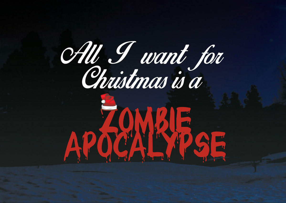 All I want for Christmas Zombie - julkort thumbnail
