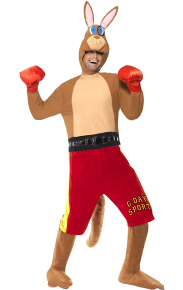 Maskeradkläder Vuxna - Boxande Känguru Maskeraddräkt