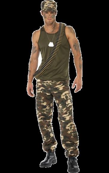 Khaki Kamouflagedräkt herr