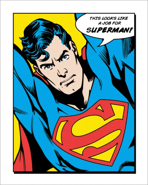 LOOKS LIKE A JOB FOR SUPERMAN POSTER thumbnail