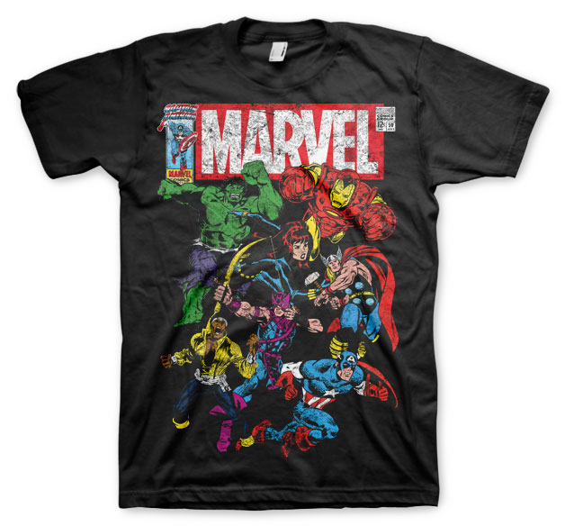 Marvel Comics - Team-Up T-Shirt (Svart) thumbnail