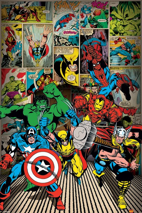 MARVEL COMICS (HERE COME THE HEROES) POSTER thumbnail