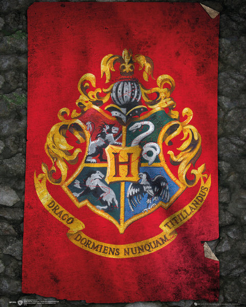 Harry Potter Poster Howarts Flagga thumbnail