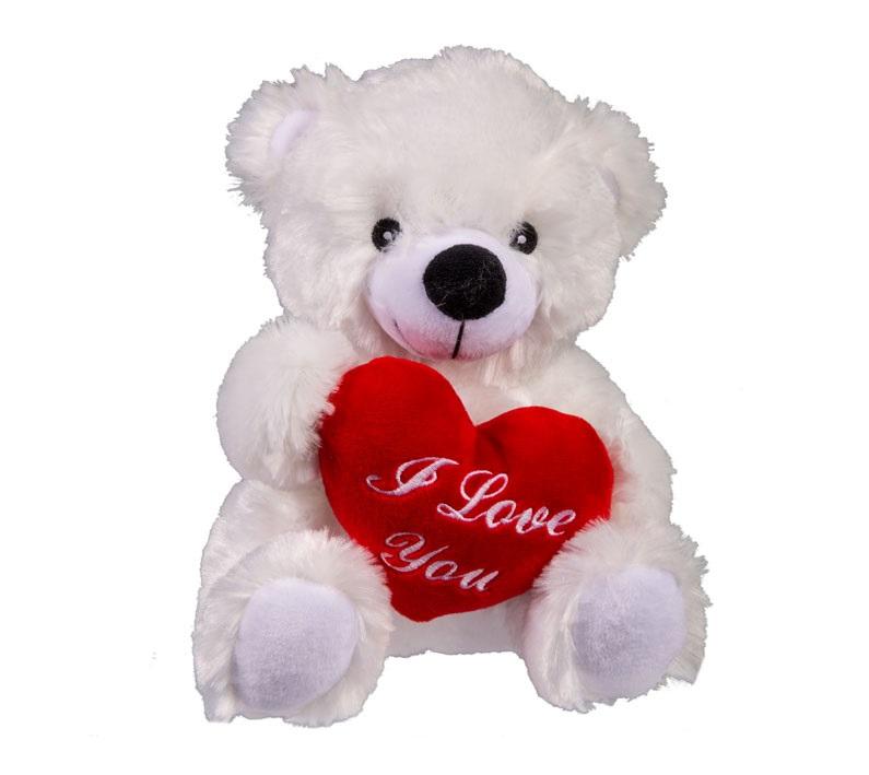 Nallebjörn I Love You Vit