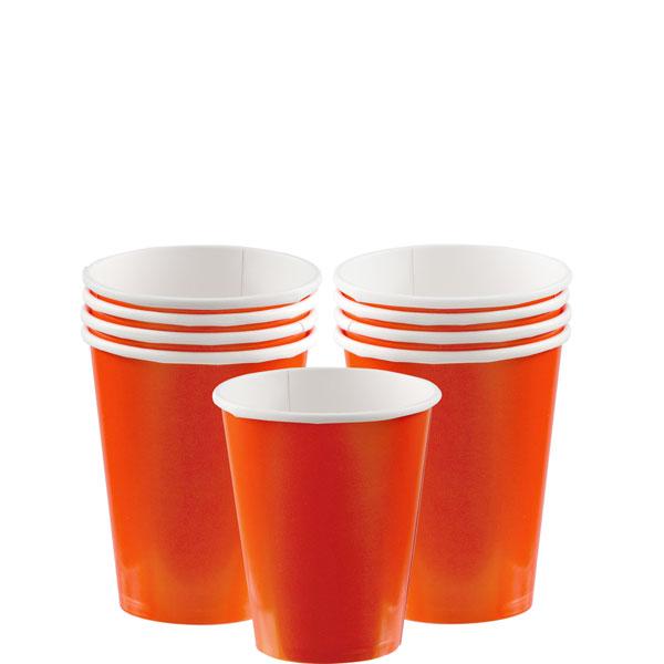 Pappersmugg Orange 8-pack