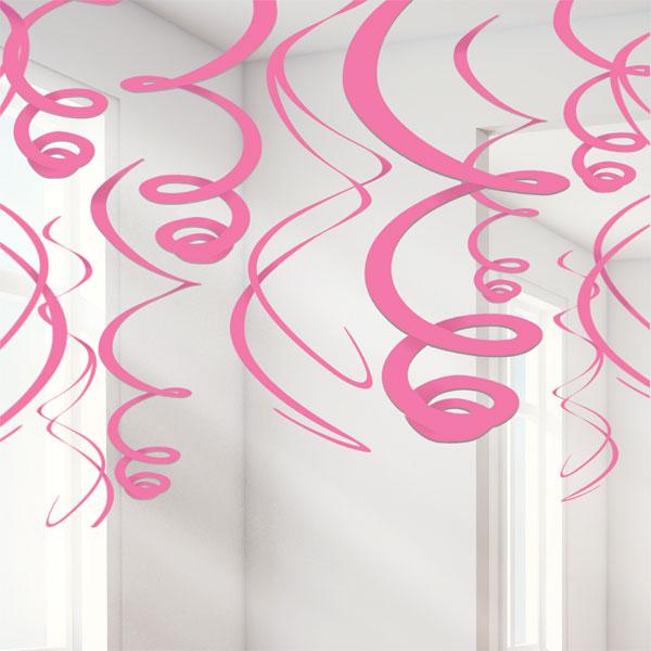 Dekoration Rosa Virvel 12-pack