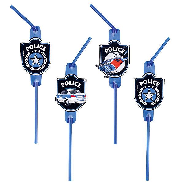 Sugrör Polis 8-pack