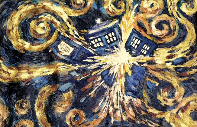 Doctor Who Exploding Tardis Canvas 60 x 80cm thumbnail