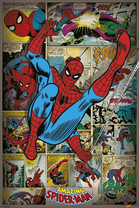 Marvel Comics (Spindelmannen Retro) Poster thumbnail