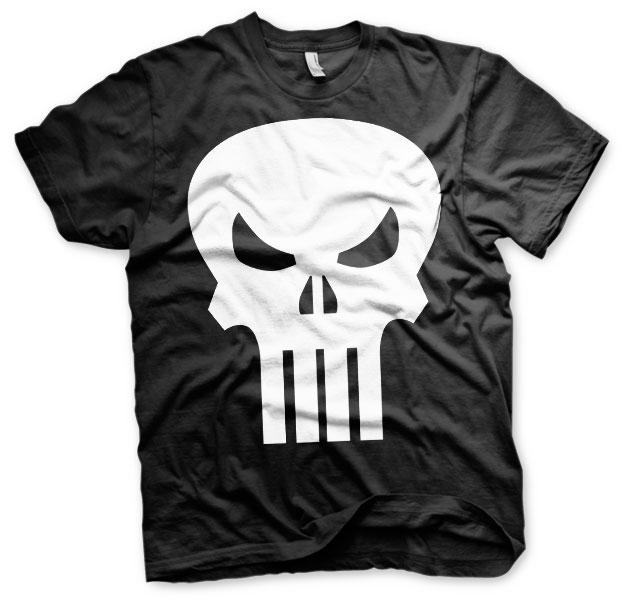 The Punisher Skull T-Shirt (Svart) thumbnail