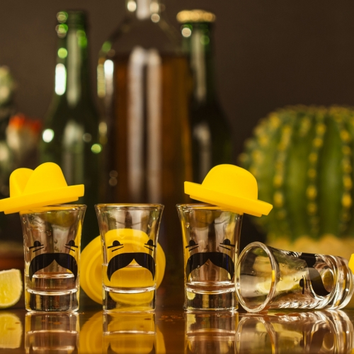 Shotglas Mexikansk Sombrero 4-pack