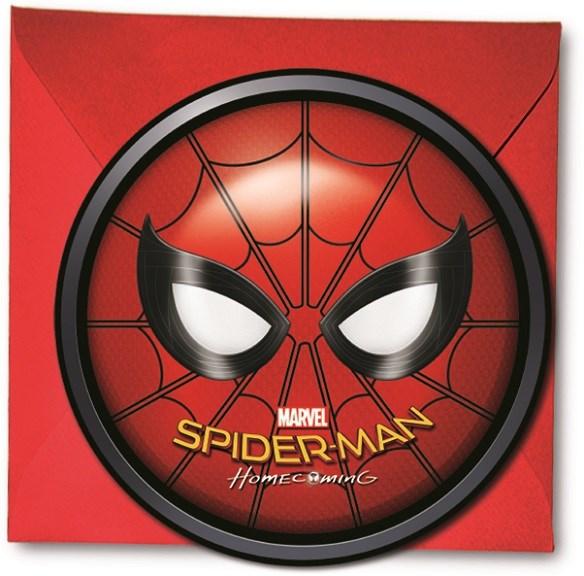 Spiderman Homecoming Inbjudningskort 6 st