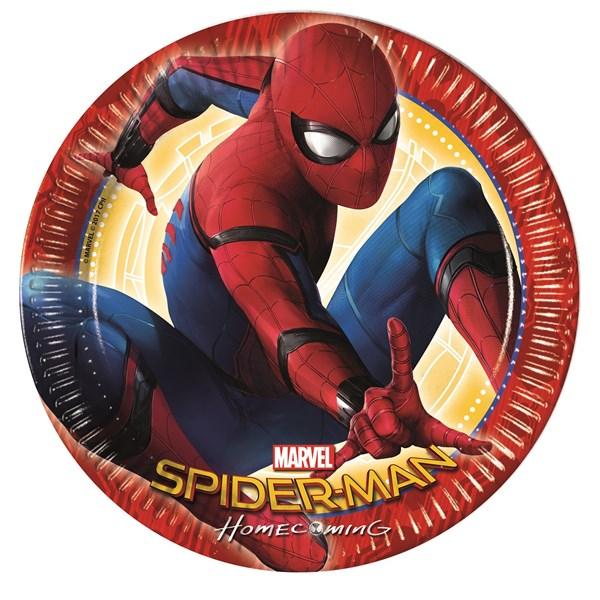 Spiderman Homecoming Papptallrikar 8-pack
