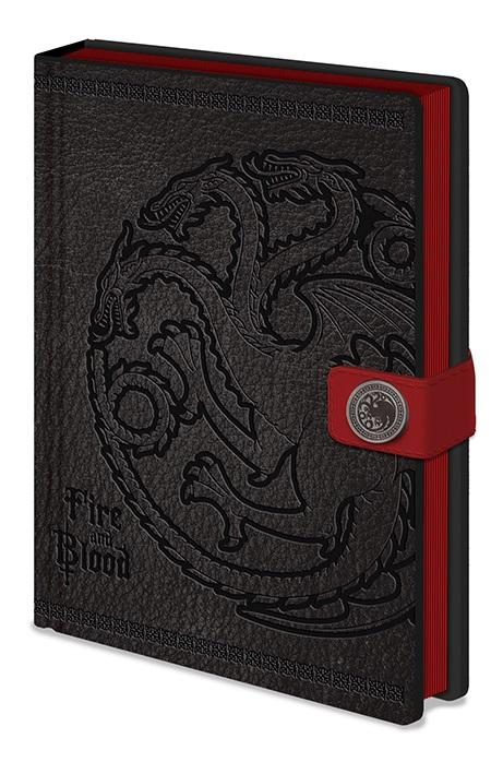 Game Of Thrones Anteckningsbok Targaryen
