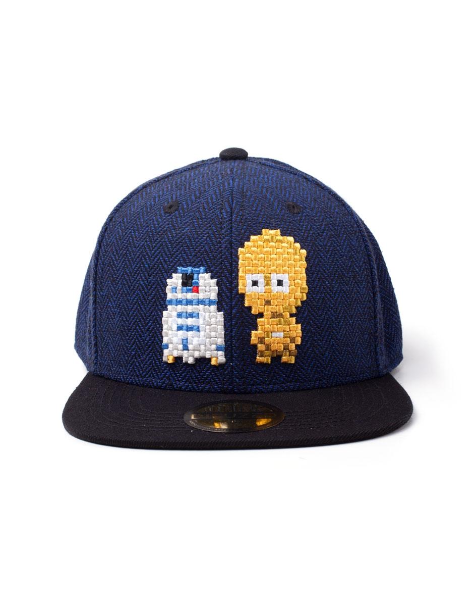 Star Wars C-3PO & R2-D2 Pixel Snapback Keps
