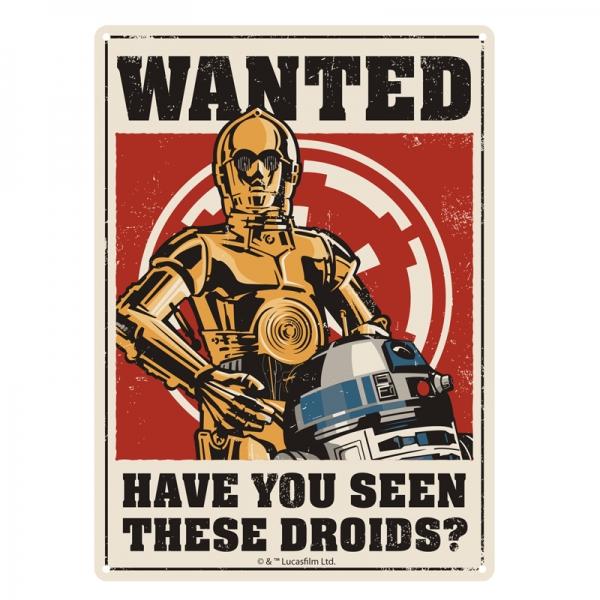 Star Wars Skylt Metal Droids
