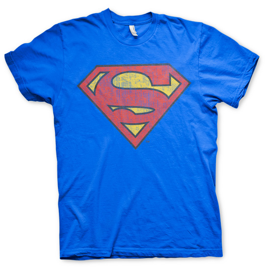 Superman Washed Shield T-Shirt (Blå) thumbnail